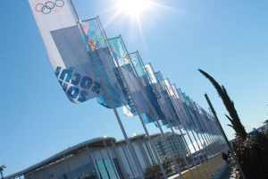 The flags in front of IBC.