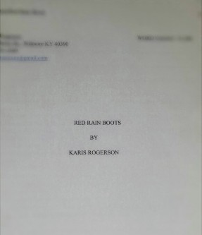 The copy of my manuscript I gave my mom for Christmas.  Photo by Becky Rogerson