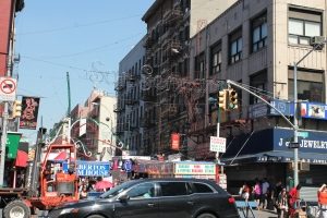 The entrance to the feast, on Mulberry Street.